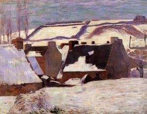 Paul Gauguin - Pont-Aven in the Snow 2