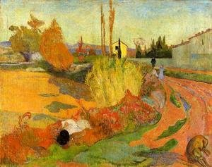 Paul Gauguin - Landscape, Farmhouse in Arles