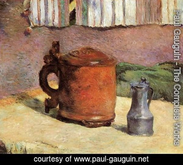 Paul Gauguin - Still, Clay Jug and Iron Mug