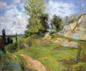 Paul Gauguin - Chou Quarries at Pontoise - I