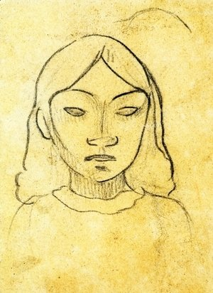 Paul Gauguin - Tahitian Woman's Head