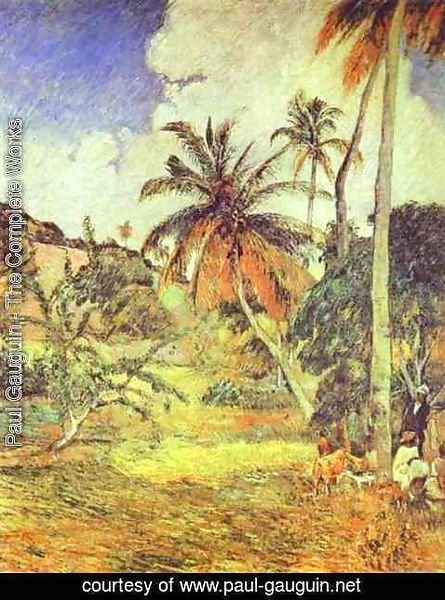 Paul Gauguin - Palm Trees at Martinique