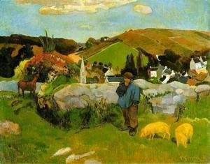 Paul Gauguin - The Swineherd, Brittany