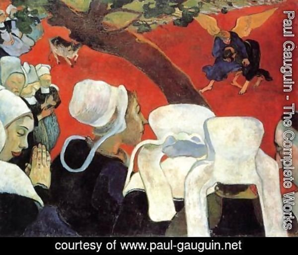 Paul Gauguin - Vision After the Sermon: Jacob Wrestling with the Angel