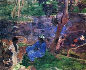 Paul Gauguin - At The Pond