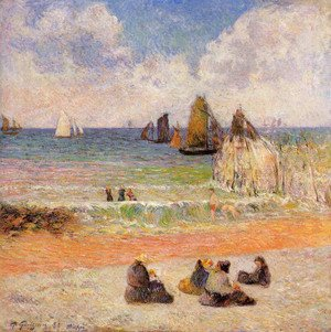 Paul Gauguin - Bathing, Dieppe