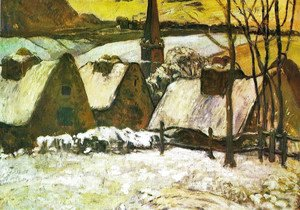 Paul Gauguin - Breton Village In Snow
