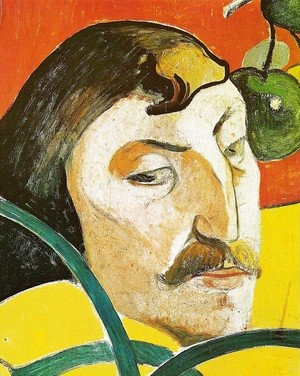 Caricature portrait of Paul Gaugin (detail)