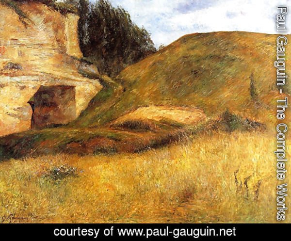 Paul Gauguin - Chou Quarry, Hole in the Cliff