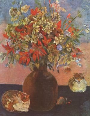 Paul Gauguin - Flowers and cats