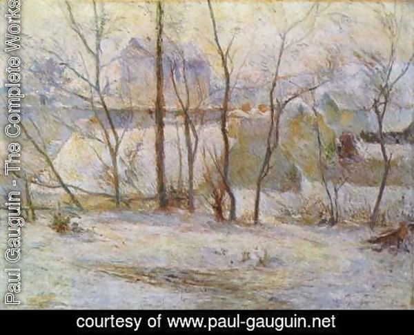Paul Gauguin - Garden in the snow 2