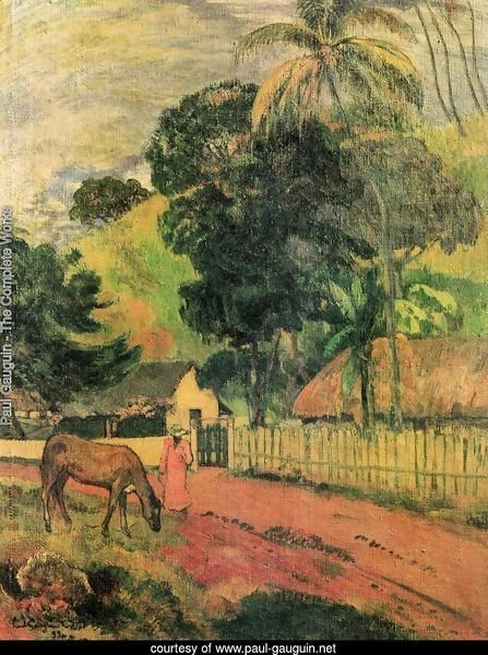 Landscape (horse at the way)