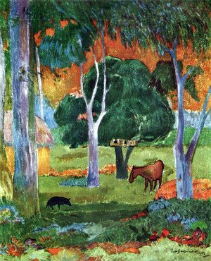 Paul Gauguin - Landscape at La Dominique
