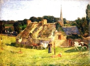 Paul Gauguin - Lollichon Field and Pont-Aven Church 2