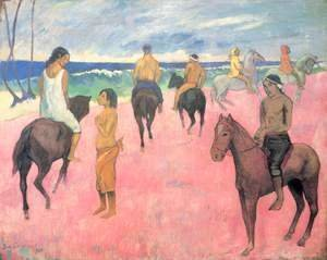 Paul Gauguin - Riders at the beach