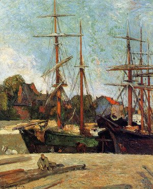 Paul Gauguin - Schooner and Three-Master 2