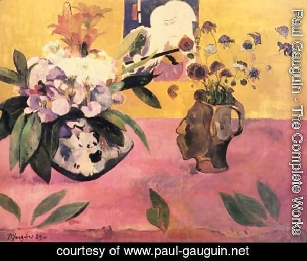 Paul Gauguin - Still life with Japanese woodcut