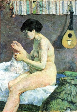 Paul Gauguin - Study of a Nude. Suzanne Sewing