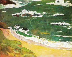 Paul Gauguin - The beach at Pouldu