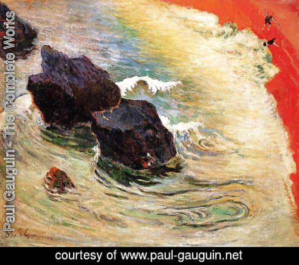 Paul Gauguin - The Vision after the Sermon (2)