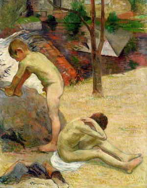 Paul Gauguin - Breton Boys Bathing 1888