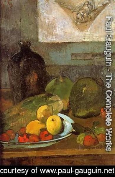 Still Life with Delacroix Drawing 1887