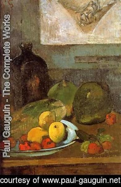 Paul Gauguin - Still Life with Delacroix Drawing 1887