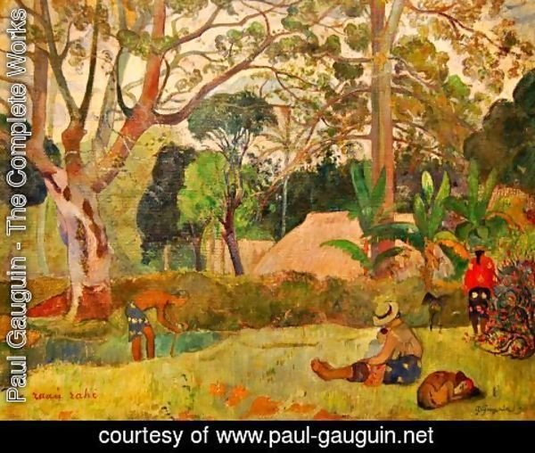 Paul Gauguin - Te raau rahi (aka The Big Tree) 1891