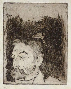 Paul Gauguin - Portrait of Stephane Mallarme