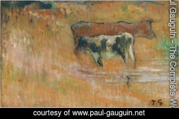 Paul Gauguin - La Vache Et Son Veau