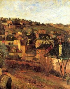Paul Gauguin - Blue roofs at Rouen