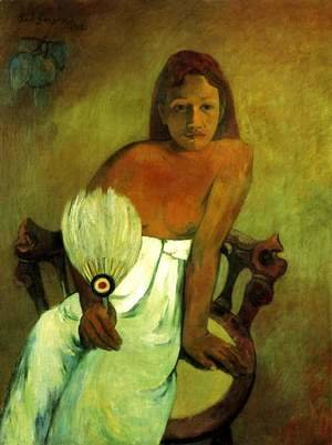 Paul Gauguin - Young Girl with Fan