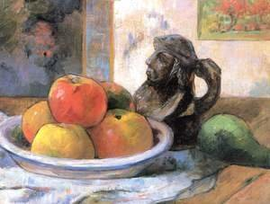 Paul Gauguin - Still life with apple, pear and mug