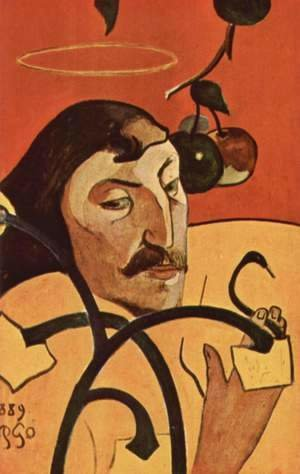 Paul Gauguin - Symbolist self-portrait with halo