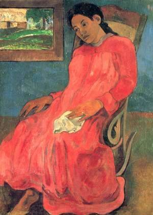 Paul Gauguin - Woman in red dress