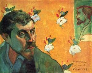 Paul Gauguin - Self-Portrait with Portrait of Bernard, 'Les Miserables'