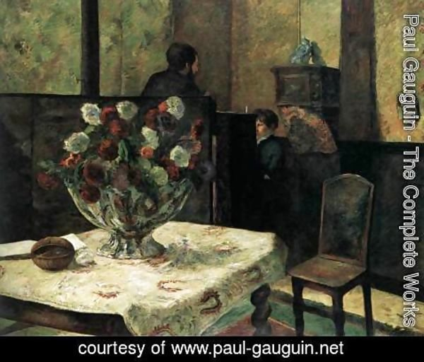 Paul Gauguin - Interior of the Artist's Home, Rue Carcel