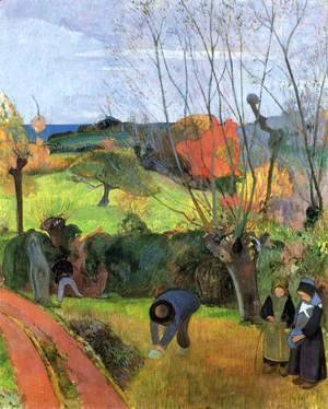 Paul Gauguin - Breton Landscape The Willow