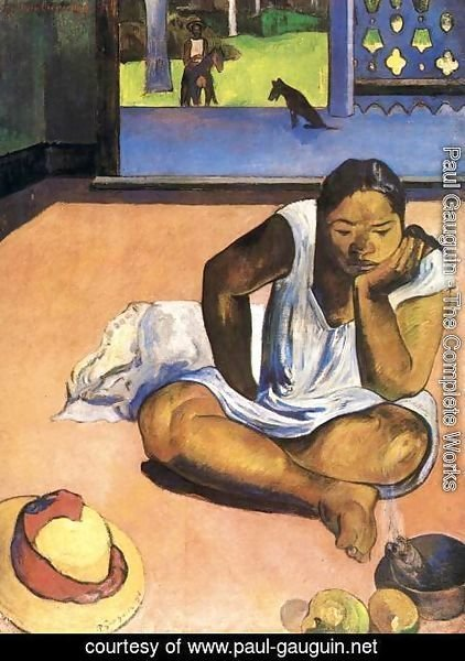 Paul Gauguin - Sulky Woman or The Silence