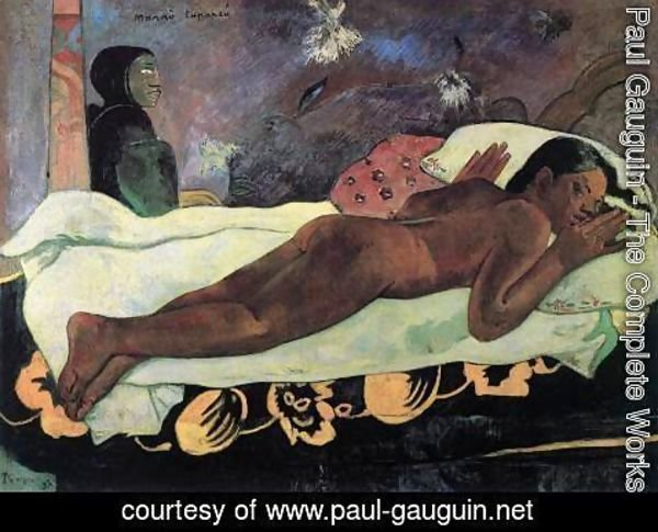 Paul Gauguin - The Spectre Watches over Her (Manao Tupapau)