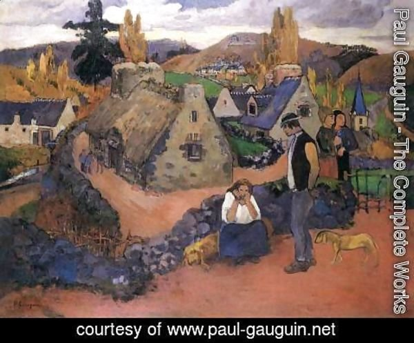 Paul Gauguin - Pont-Aven, the Village