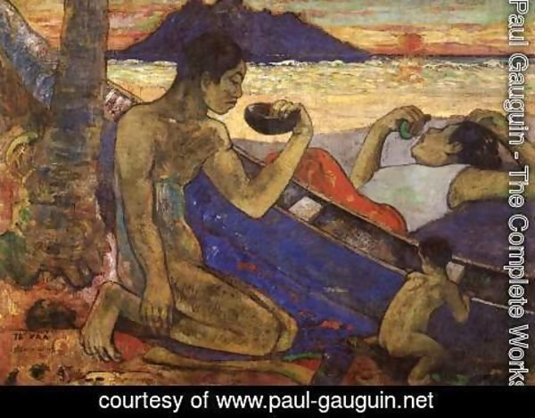 Paul Gauguin - Te Vaa (The Canoe)