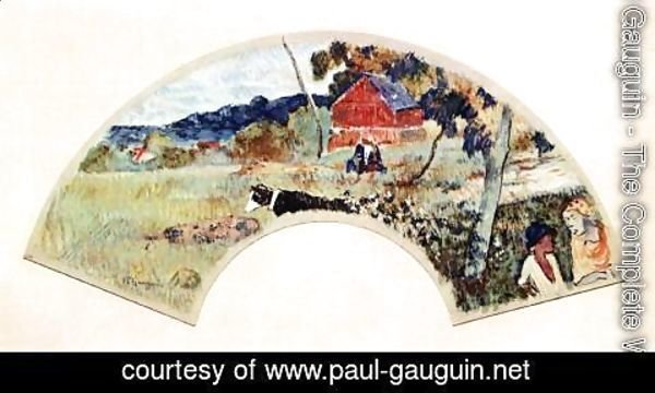 Paul Gauguin - Design for a Fan 2