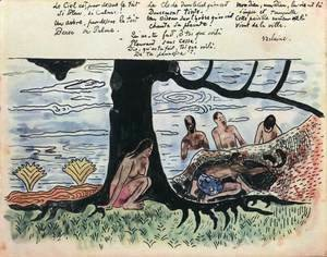Bathing Women at a Tree