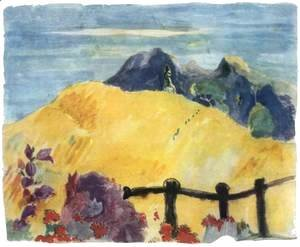 Paul Gauguin - Parahi Te Marae (The Sacred Mountain)