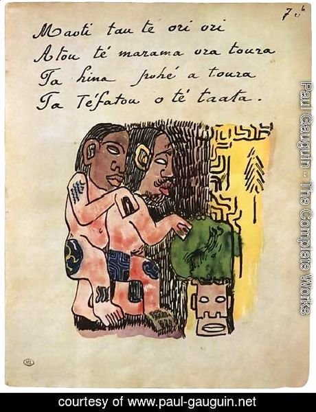 Paul Gauguin - The God Taaroa with One of His Wifes