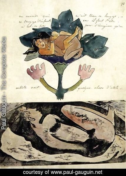 Paul Gauguin - Illustration in the Noa-Noa Album