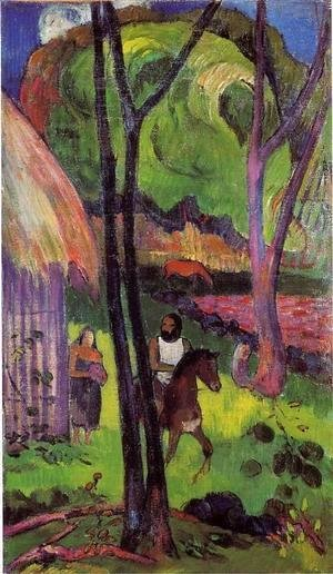 The rider in front of the hub