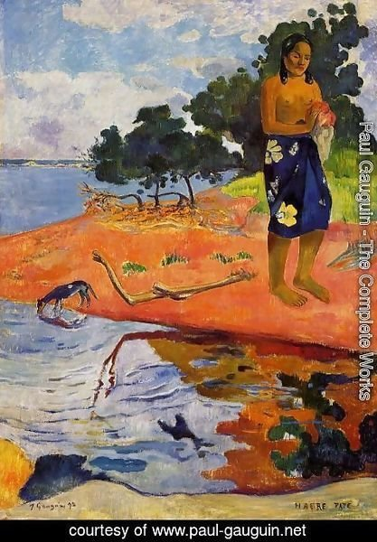 Paul Gauguin - She goes down to the fresh water (Haere Pape)