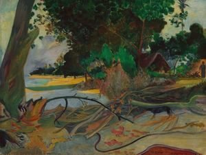 Paul Gauguin - The hibiskus tree
